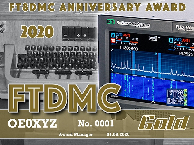 FTDMC2020  Award Manager OD5TE. An FTDMC Anniversary Award 2020 can be earned by working the FTDMC and FTDM stations between 1st July 2020 and 31st July 2020 by collecting points applicable for various award classes:  Bronze: 10 QSO's with at least 5 different special 'FTDMC/FTDM' stations Silver: 20 QSO's with at least 10  different special 'FTDMC/FTDM' stations Gold: 30  QSO's with at least 15 different special 'FTDMC/FTDM' stations   Please note: working the same station on the same band  is a 'dupe' QSO and will not be considered for the award.